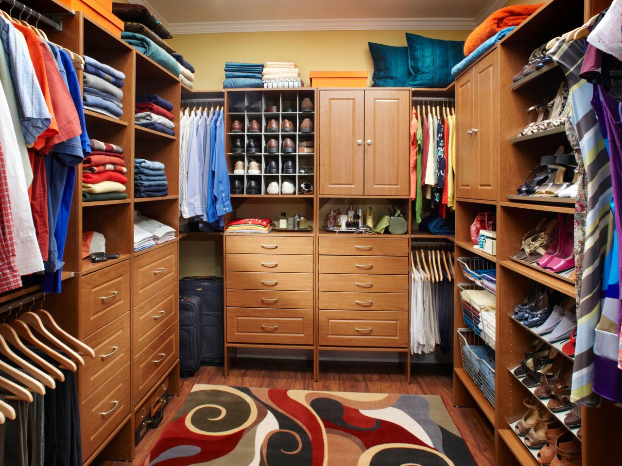 ... racks or hooks on the wall for simple storage of belts ties kitchen cooking pans or a broom depending on the room of the house in which the closet ... & Big Closet Design Ideas - Kansas City Custom Closets