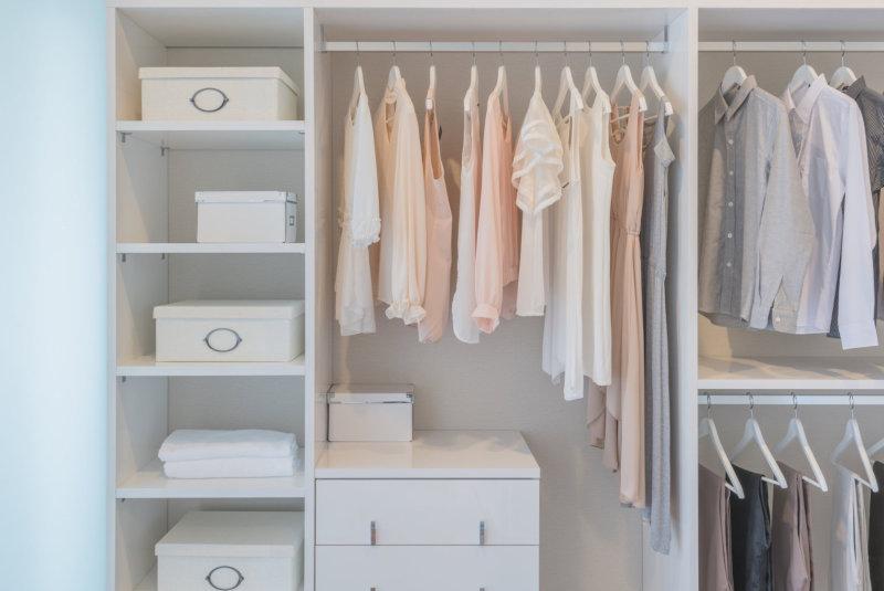 clean closet feature